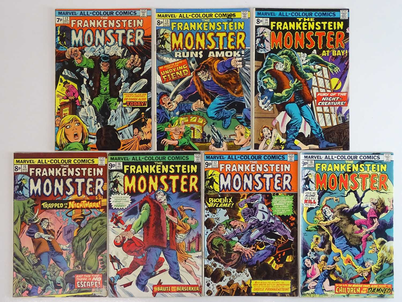 MONSTER OF FRANKENSTEIN (THE FRANKENSTEIN MONSTER) #12, 13, 14, 15, 16, 17, 18 - (7 in Lot) - (