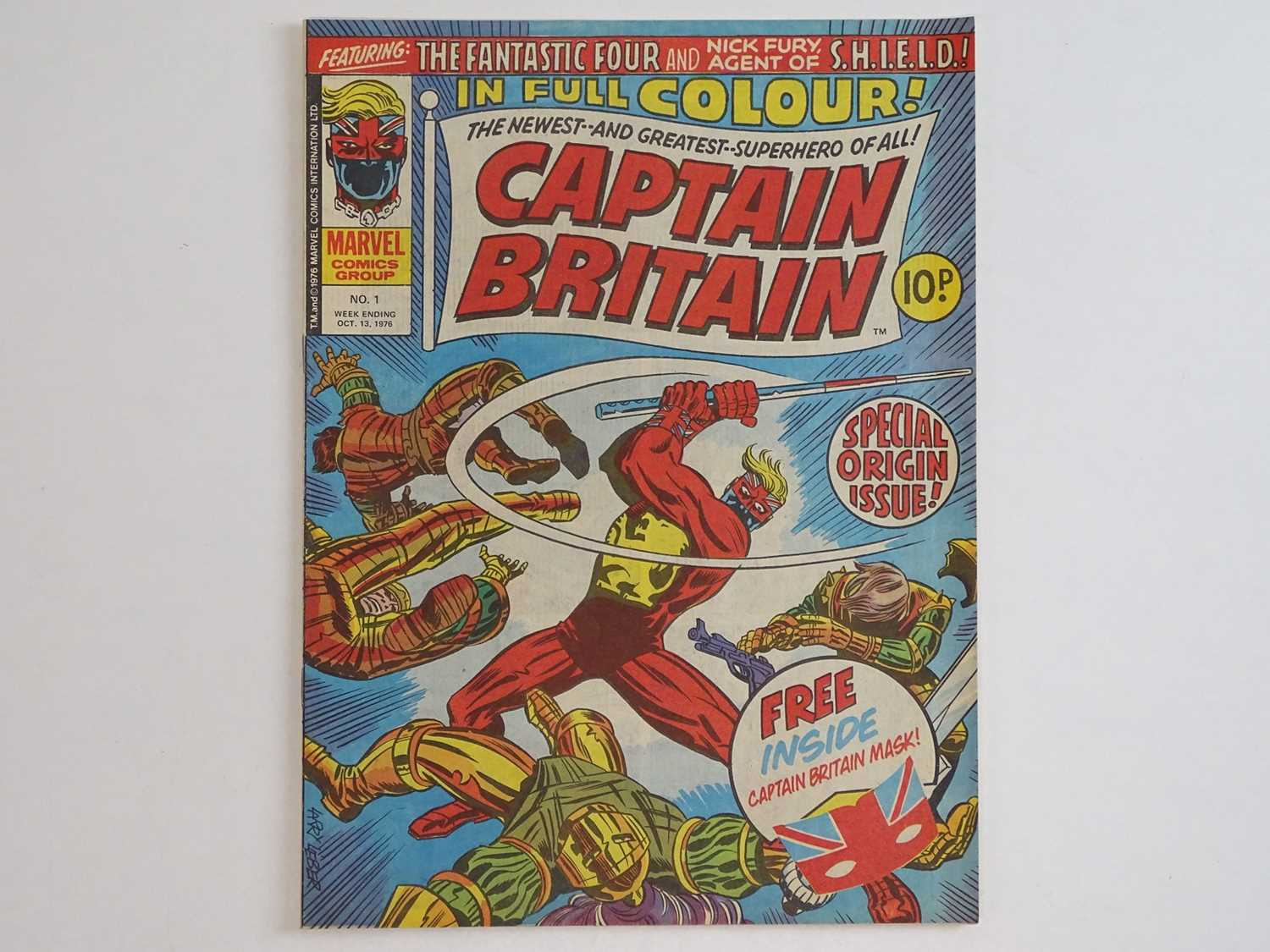 CAPTAIN BRITAIN #1 - (1976 - BRITISH MARVEL) - Origin and First appearance of Captain Britain - Image 2 of 12
