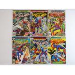 AMAZING SPIDER-MAN #163, 165, 166, 167, 182, 187 - (6 in Lot) - (1976/78 - MARVEL - US Price & UK