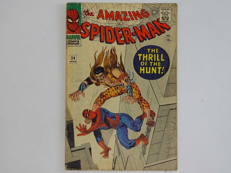 AMAZING SPIDER-MAN #34 - (1966 - MARVEL - UK Price Variant) - Fourth appearance of Kraven the Hunter