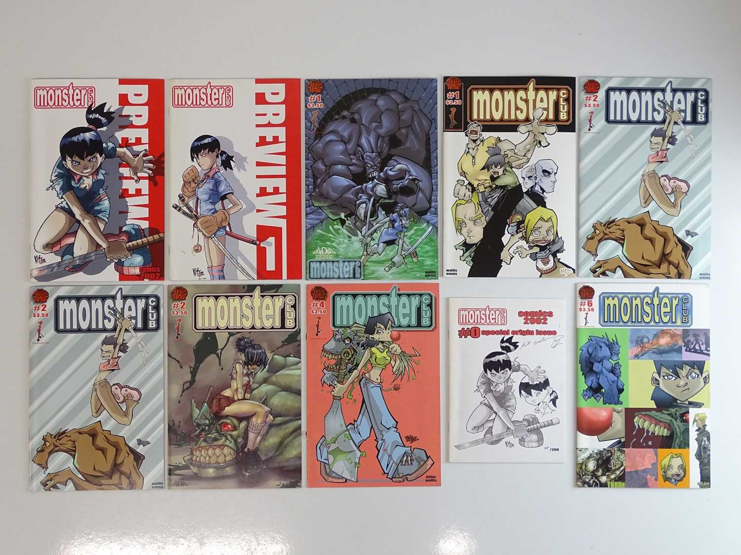 MONSTER CLUB LOT - (10 in Lot) - (2002 - DC) - First Printings - Includes MONSTER CLUB #0 - Origin