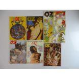 OZ MAGAZINE #43, 44, 45, 46, 47, 48 - (6 in Lot) - (1972/73) Selection of 6 x OZ Magazines -
