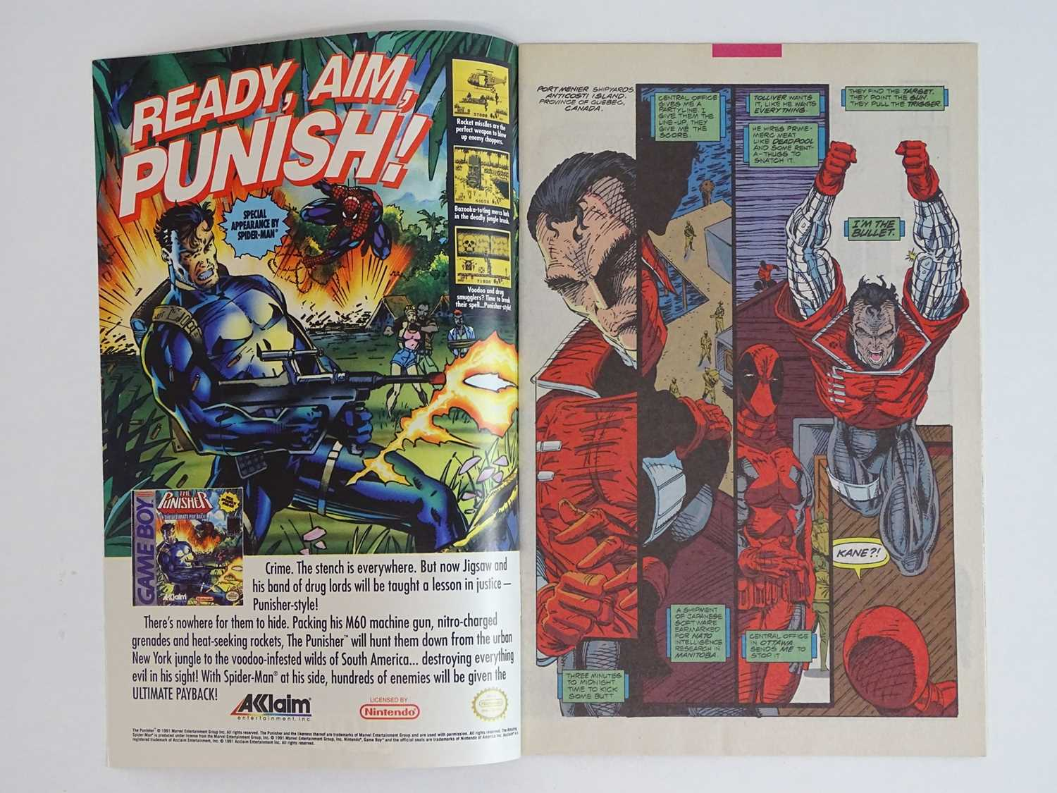X-FORCE #2 - (1991 - MARVEL) - Second appearance Deadpool + First appearance Weapon X + - Image 3 of 9