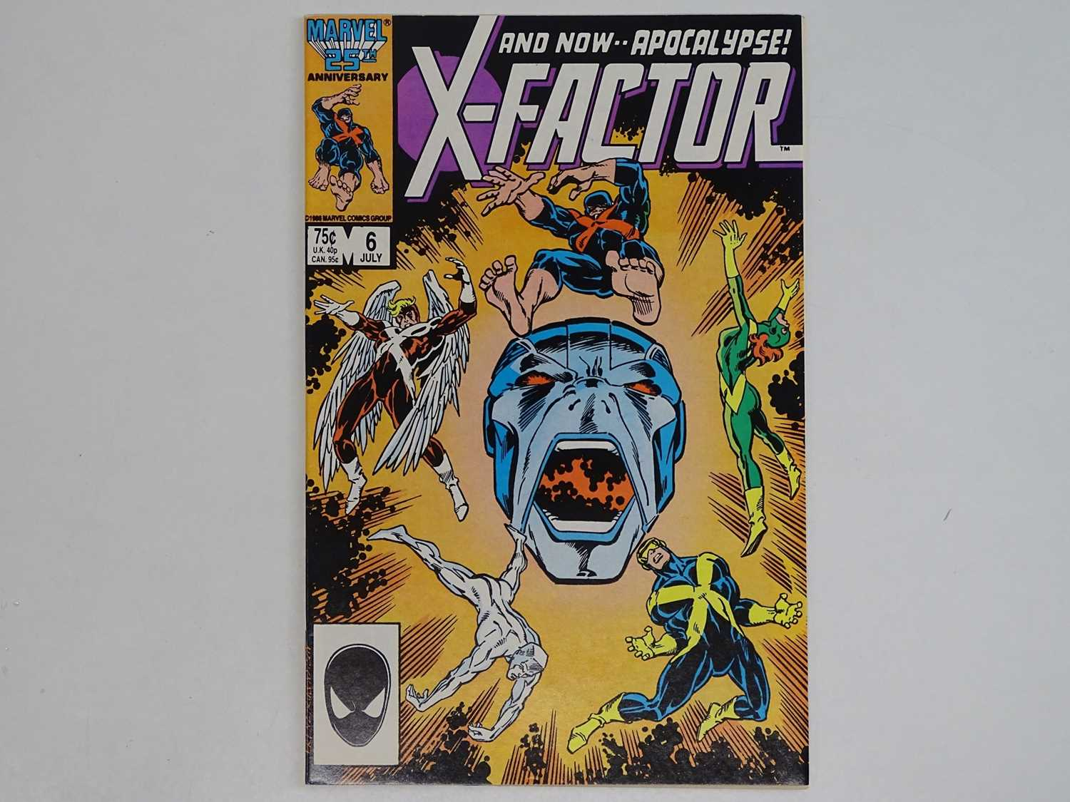 X-FACTOR #6 - (1986 - MARVEL) - Includes First (Full) Appearance of Apocalypse - Flat/Unfolded - a