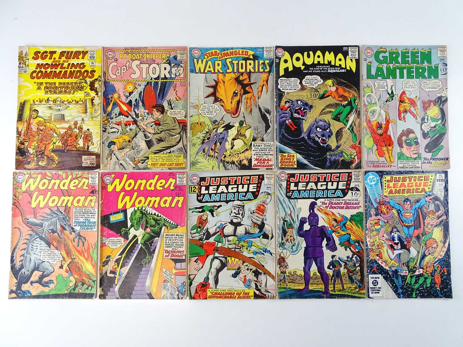 MIXED LOT MARVEL & DC COMICS - (10 in Lot) - (MARVEL/DC - UK Cover Price) - Includes SGT. FURY & HIS