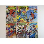 AMAZING SPIDER-MAN #350, 351, 352, 353, 354, 355 - (6 in Lot) - (1991 - MARVEL) - Includes Captain