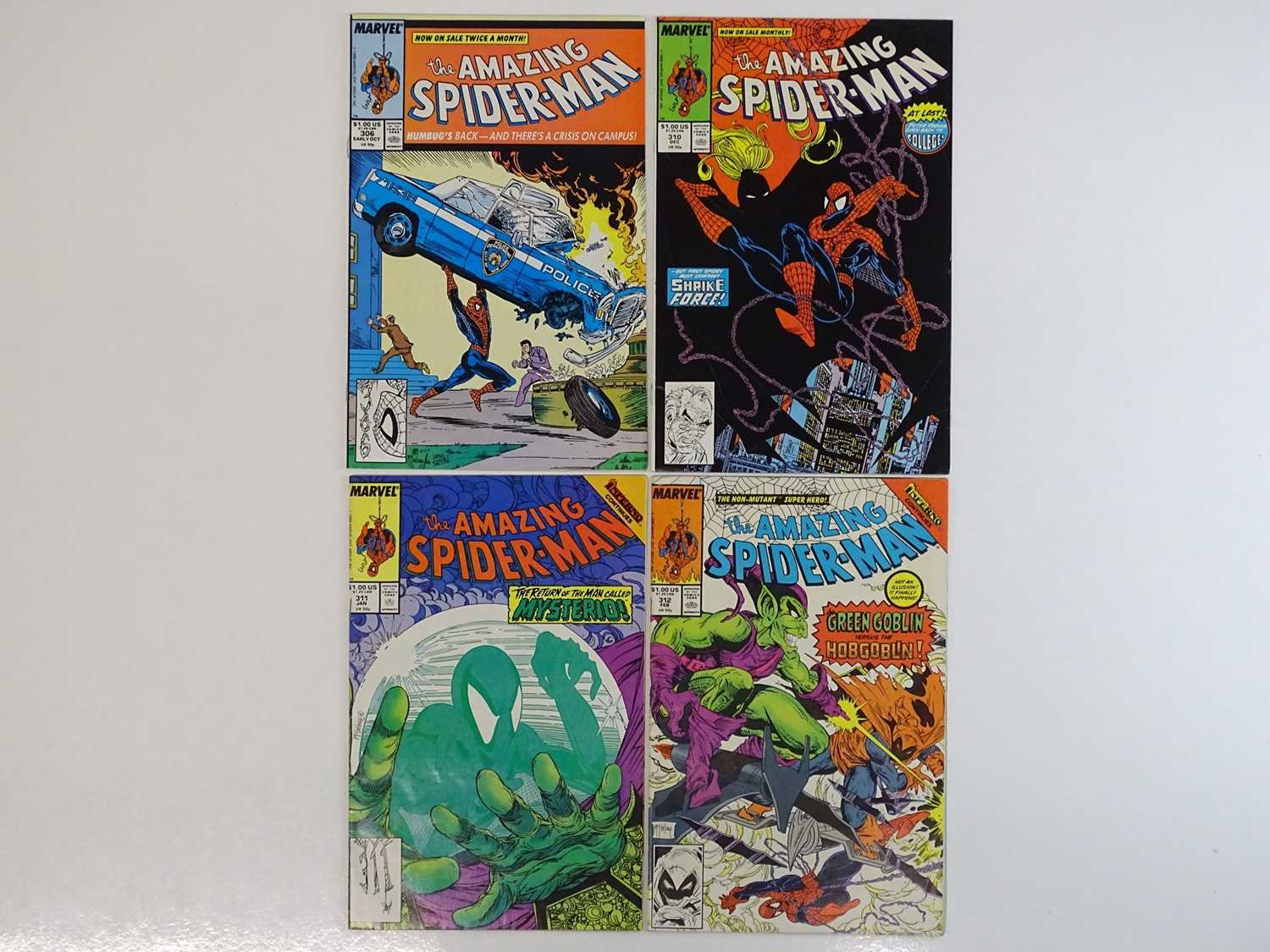 AMAZING SPIDER-MAN #306, 310, 311, 312 - (4 in Lot) - (1988 - MARVEL) - Includes Action Comics #1