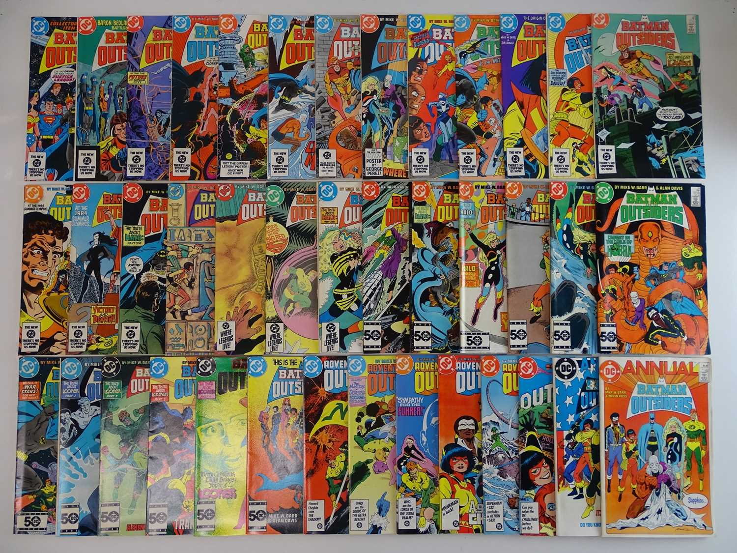 BATMAN & THE OUTSIDERS #1 to 38 + ANNUALS #1 & 2 - (40 in Lot) - (1983/86 - DC) - Complete