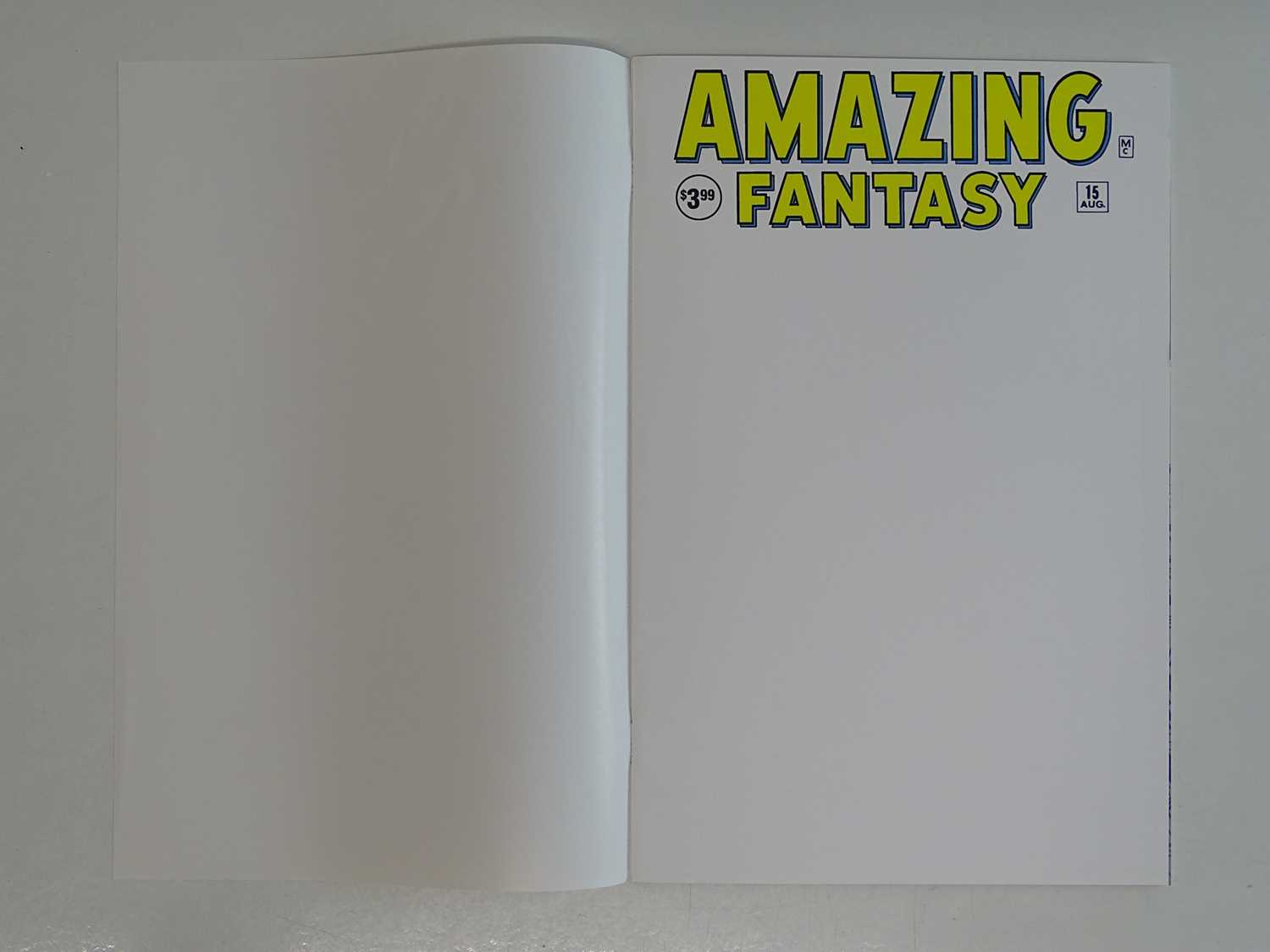 AMAZING FANTASY #15 - (1968 - MARVEL) - Facsimile Edition + White Cover with cover protector - Image 2 of 8