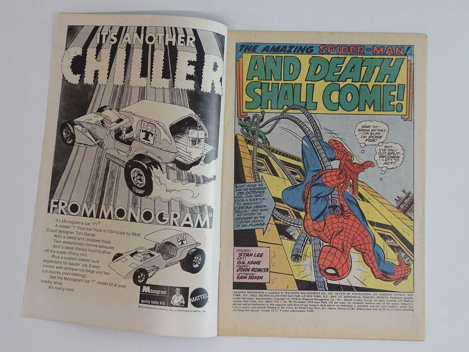 AMAZING SPIDER-MAN # 90 - (1970 - MARVEL - Uk Cover Price) - 'Death' of Captain Stacy + Doctor - Image 3 of 9