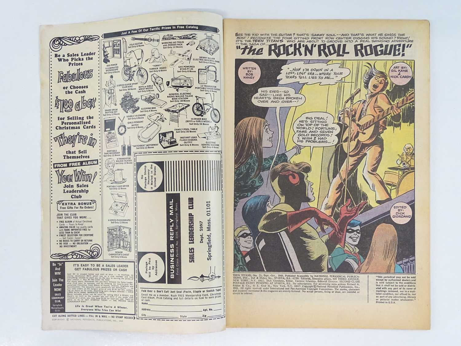 TEEN TITANS #23 - (1969 - DC - UK Cover Price) - Classic DC Cover - New costume for Wonder Girl - Image 3 of 9