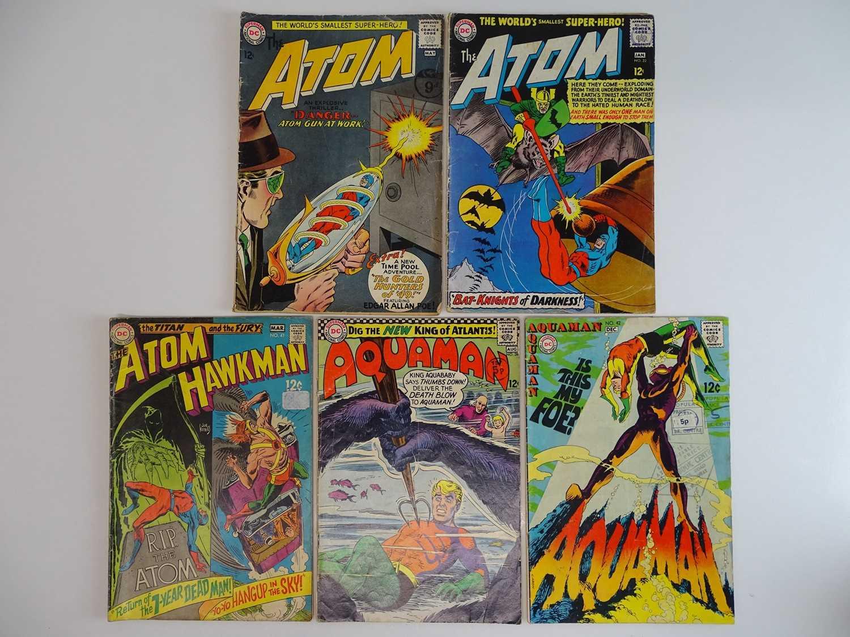 ATOM #12, 22 + ATOM & HAWKMAN #41 + AQUAMAN #28, 42 - (5 in Lot) - (1964/69 - DC - UK Cover Price) -