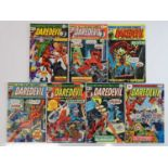 DAREDEVIL #123, 124, 125, 126, 127, 128, 133 - (7 in Lot) - (1975/76 - MARVEL - UK Price