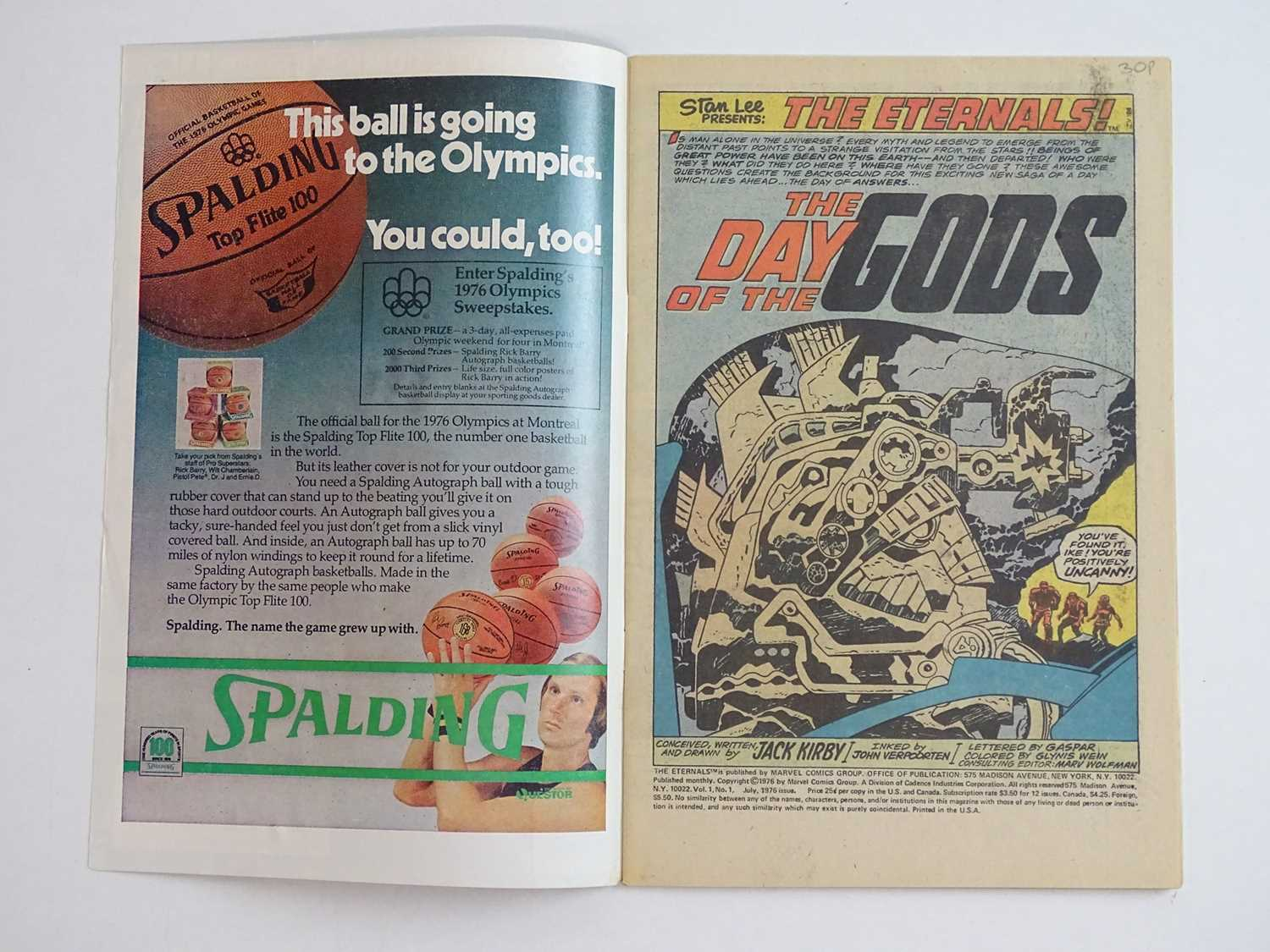 ETERNALS #1 - (1976 - MARVEL) - HOT Key book + Origin and First appearances of the Eternals (Ikaris, - Image 3 of 9
