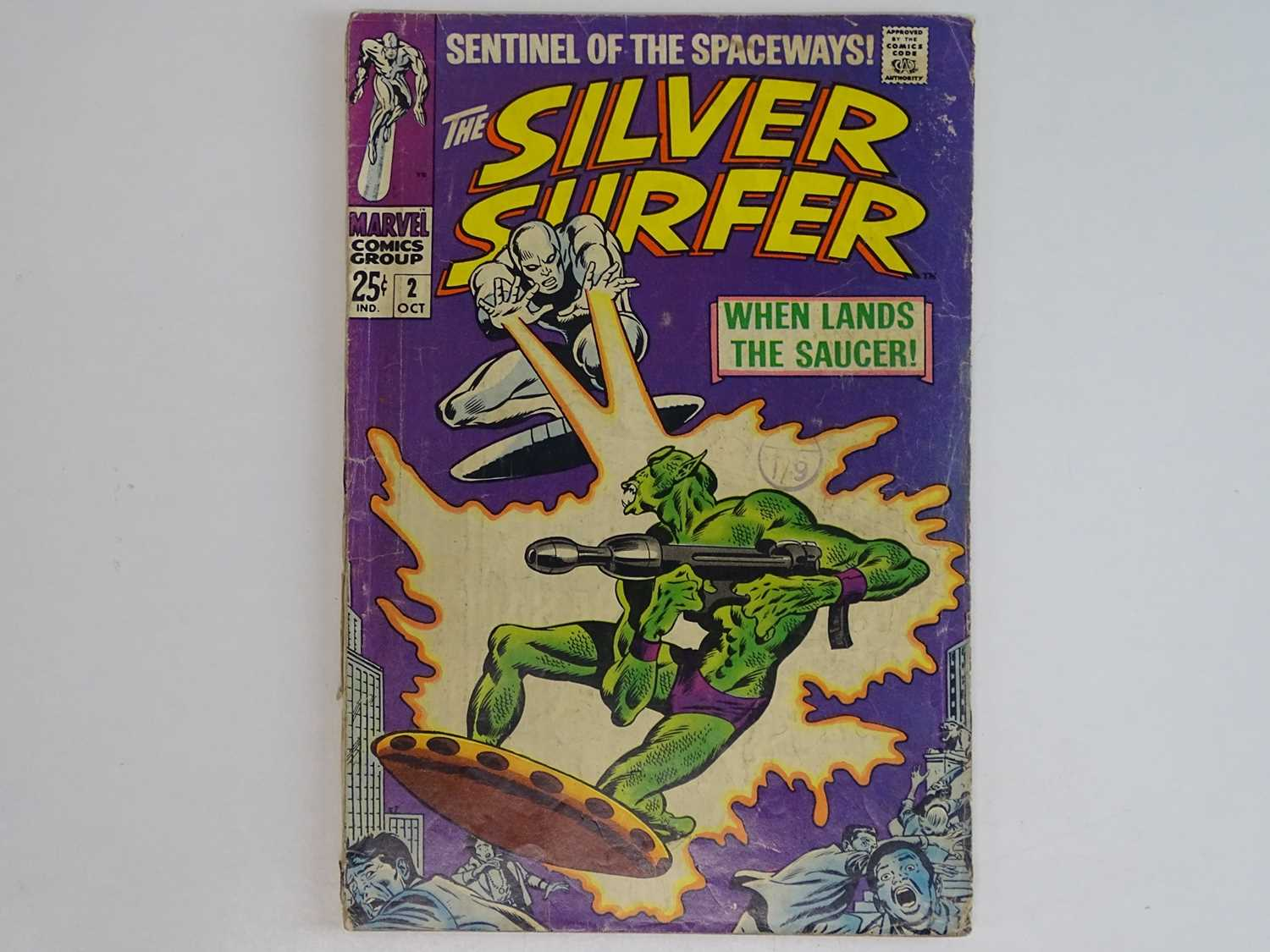 SILVER SURFER #2 - (1968 - MARVEL - UK Cover Price) - First appearance of the Brotherhood of