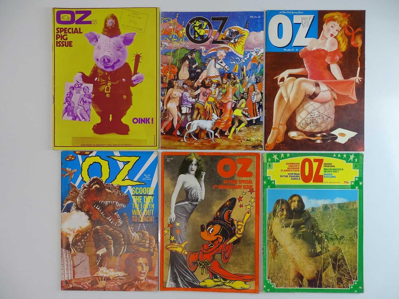 OZ MAGAZINE #35, 36, 37, 38, 40, 42 - (6 in Lot) - (1971/72) Selection of 6 x OZ Magazines -