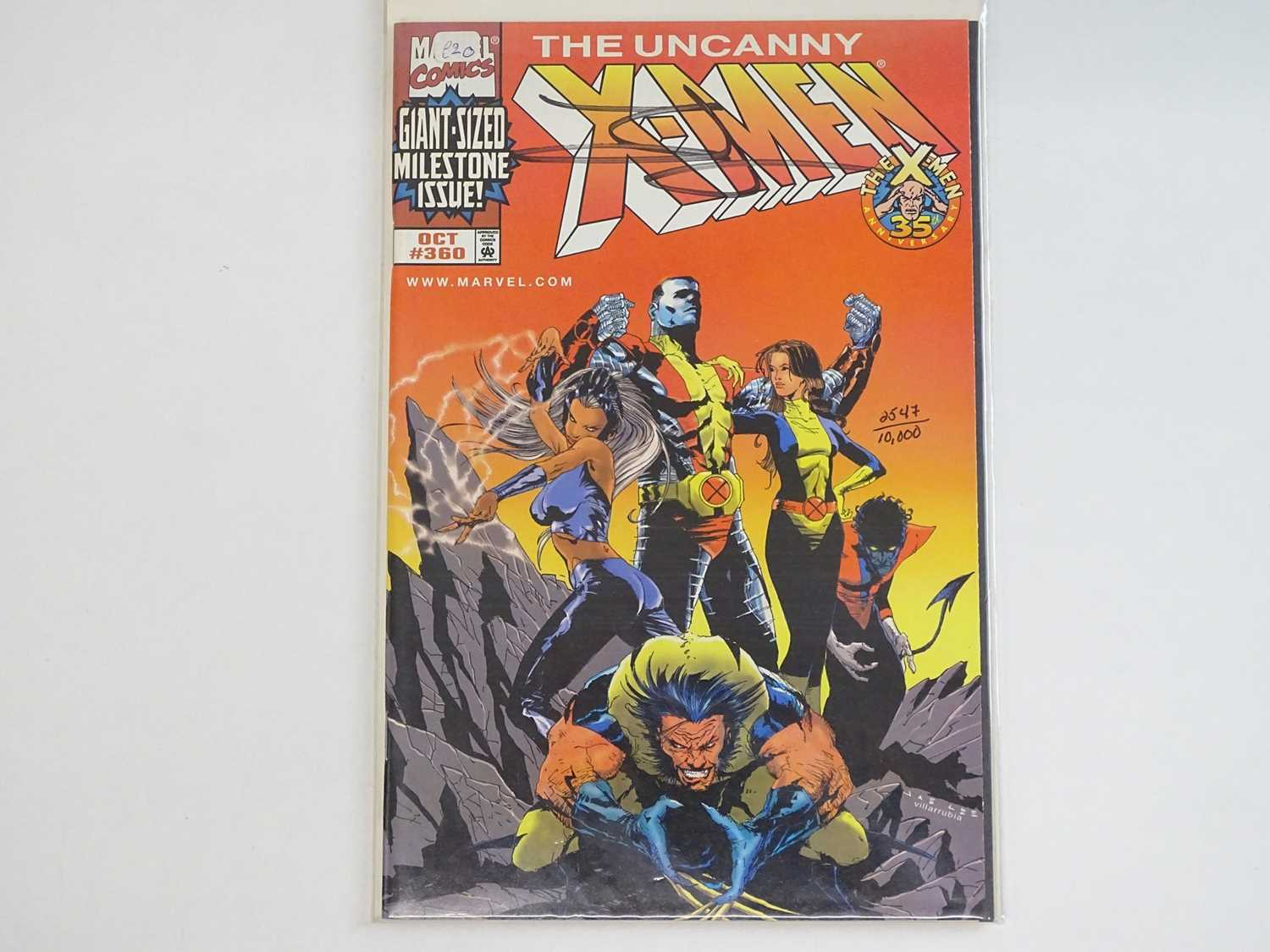 UNCANNY X-MEN #360 - (MARVEL - 1998) - Signed to Front Cover by Jae Lee and Numbered #2547/10,