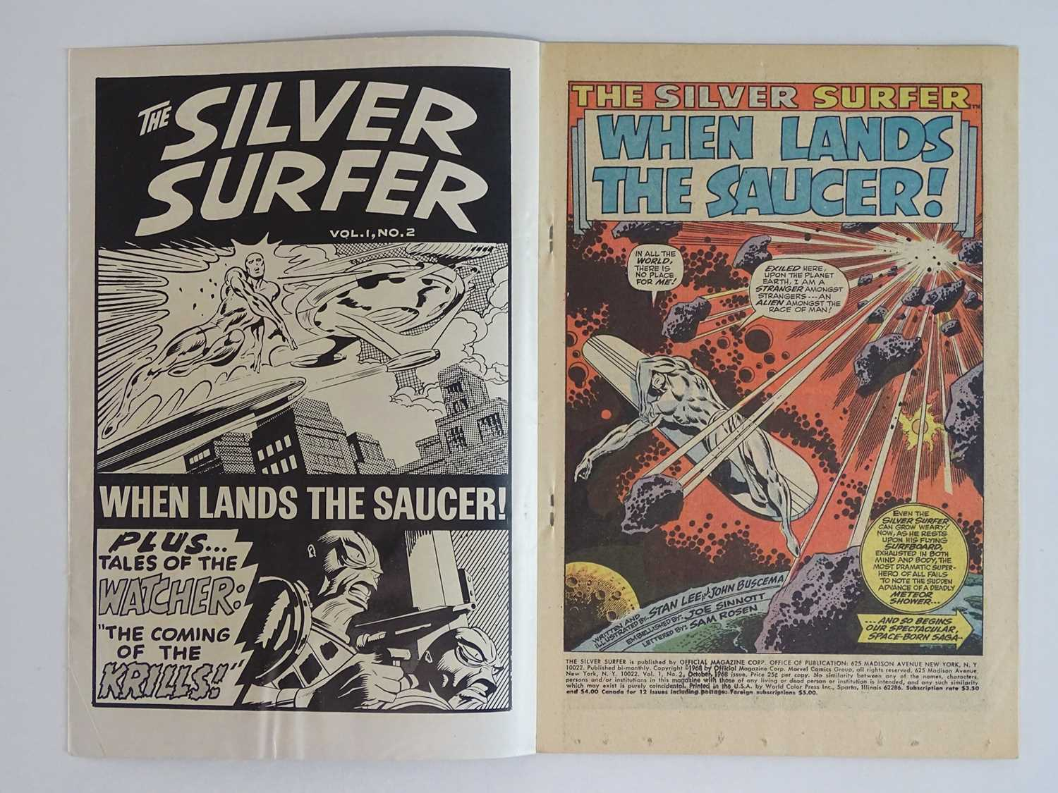 SILVER SURFER #2 - (1968 - MARVEL) - First appearance of the Brotherhood of Badoon + backup story - Image 3 of 8