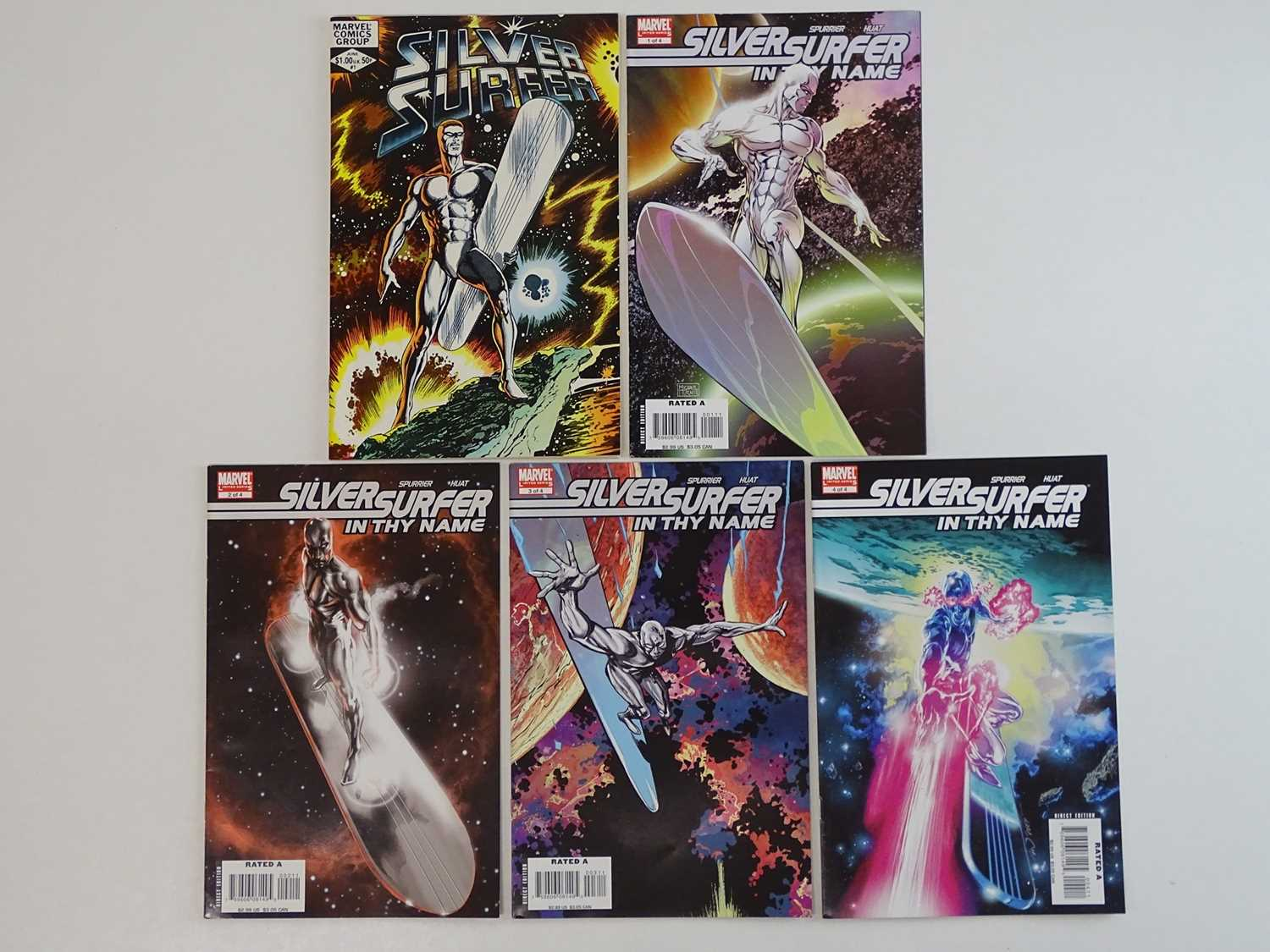 SILVER SURFER LOT - (5 in Lot) - (MARVEL) - Includes SILVER SURFER (1982) #1 + SILVER SURFER: IN THY