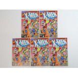 X-MEN #1 - (5 in Lot) - (1991 - MARVEL) - Gambit, Colossus, Rogue, Psylocke cover - Jim Lee