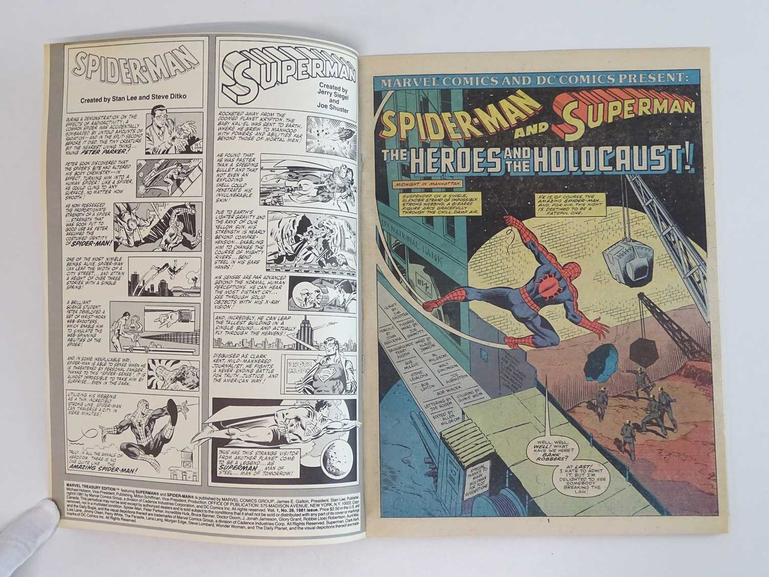 SUPERMAN AND SPIDER-MAN: COLLECTORS EDITION (1981 - MARVEL/DC) Special edition over-sized issue - Image 4 of 9