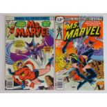 MS. MARVEL #9 & 22 - (2 in Lot) - (1977/79 - MARVEL - UK Price Variant) - Includes First