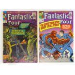 FANTASTIC FOUR #37 & 42 - (2 in Lot) - (1965 - MARVEL - UK Cover Price & UK Price Variant) -