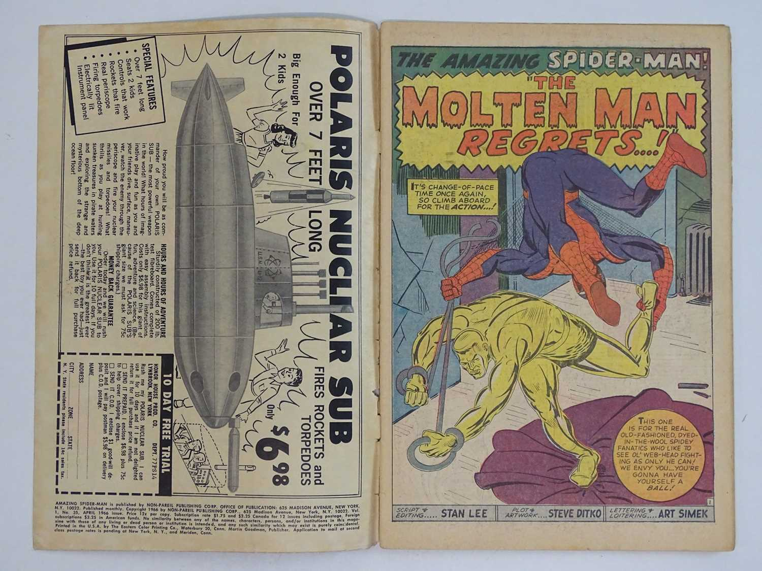 AMAZING SPIDER-MAN #35 - (1966 - MARVEL - UK Price Variant) - Second appearance of the Molten Man. - Image 3 of 9