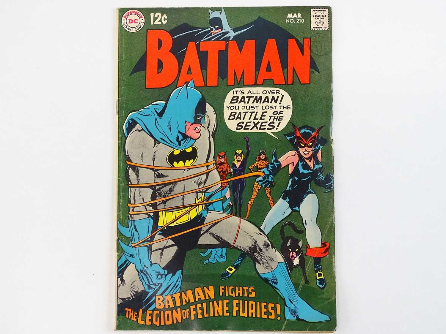 BATMAN #210 - (1969 - DC - UK Cover Price) - First appearance of the Feline Furies which includes