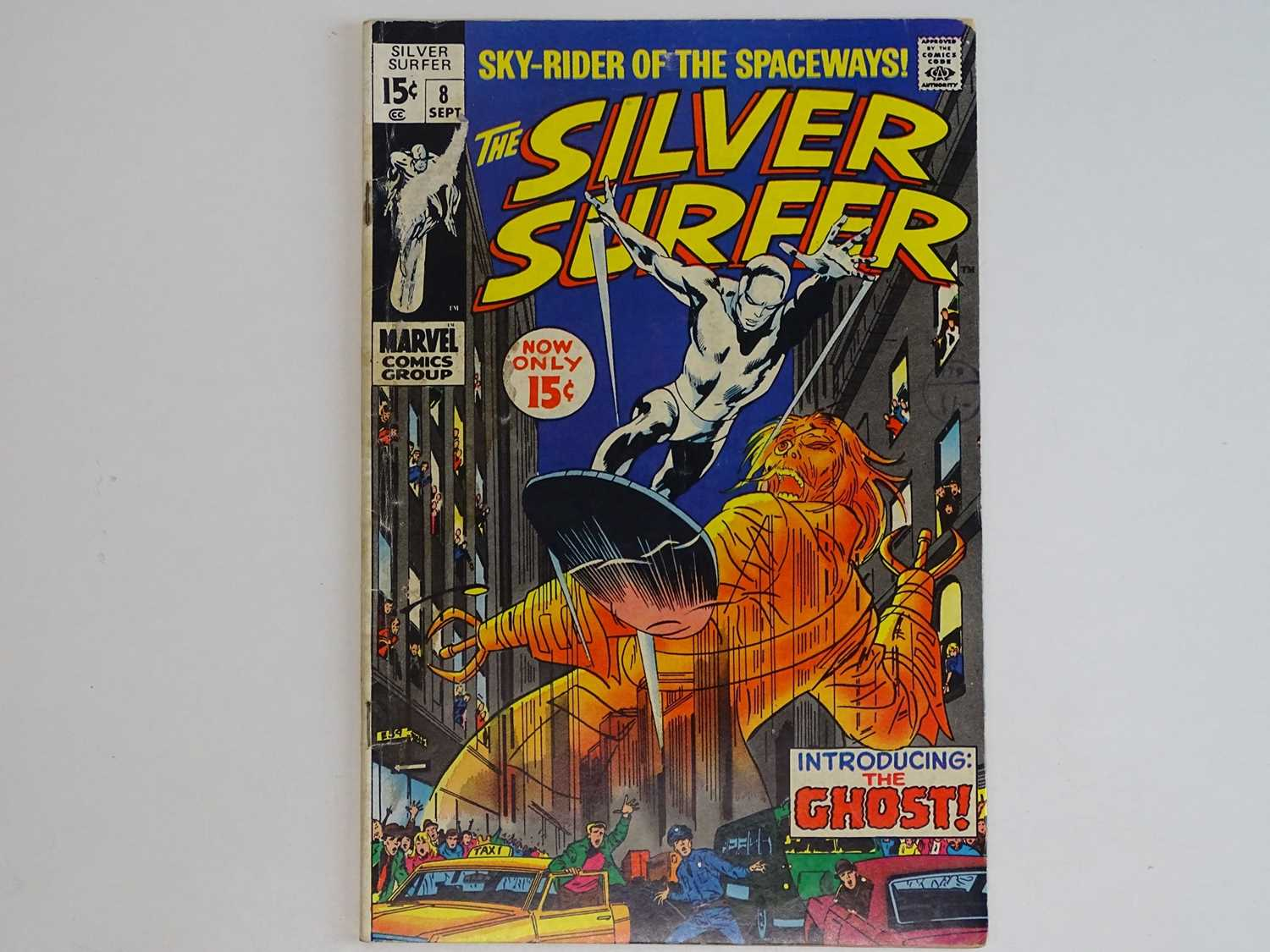 SILVER SURFER #8 - (1969 - MARVEL - UK Cover Price) First appearance of the Flying Dutchman +