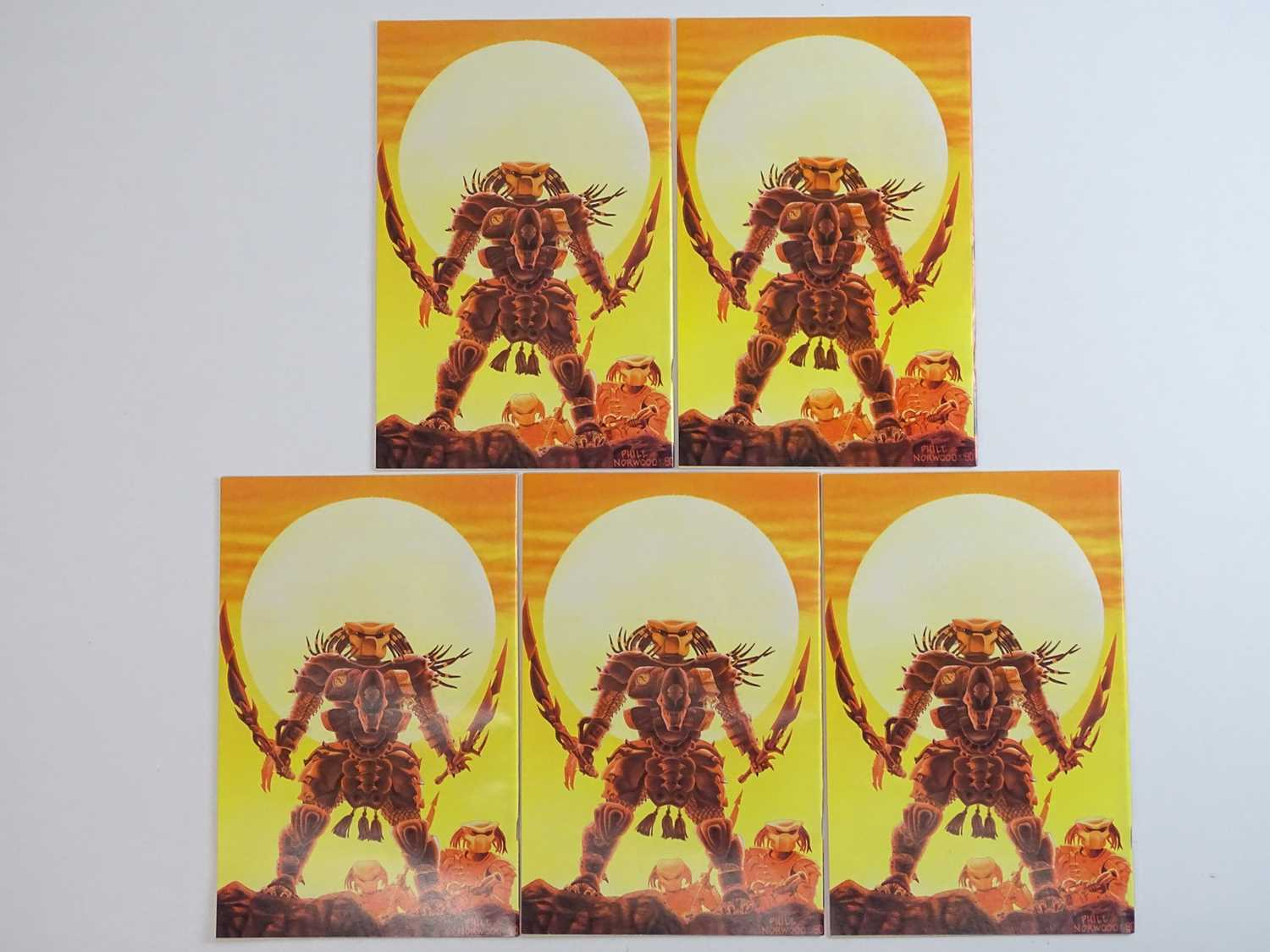 ALIENS VS PREDATOR #1 - (5 in Lot) - (1990 - DARK HORSE) - First Printing - Five (5) #1 issues for - Image 2 of 2