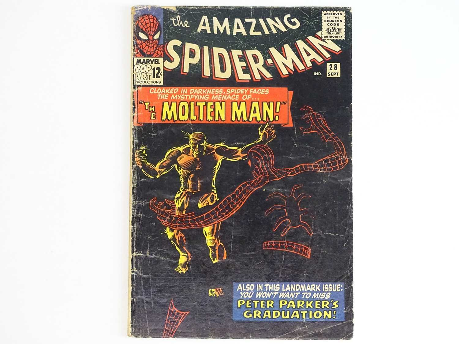 AMAZING SPIDER-MAN #28 - (1965 - MARVEL) - Origin and First appearance of Molten Man + Peter