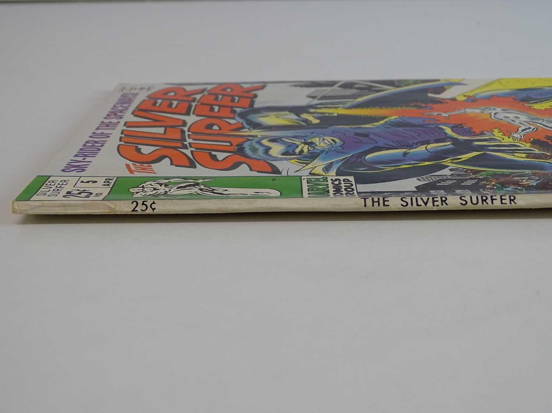 SILVER SURFER #5 - (1969 - MARVEL) Silver Surfer battles the Stranger + The Thing, Mr. Fantastic, - Image 7 of 8