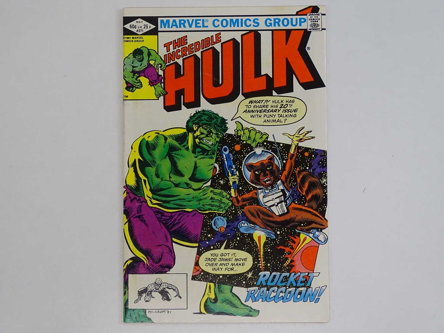 INCREDIBLE HULK #271 - (1981 - MARVEL) - First comic book appearance of Rocket Raccoon (Guardians of