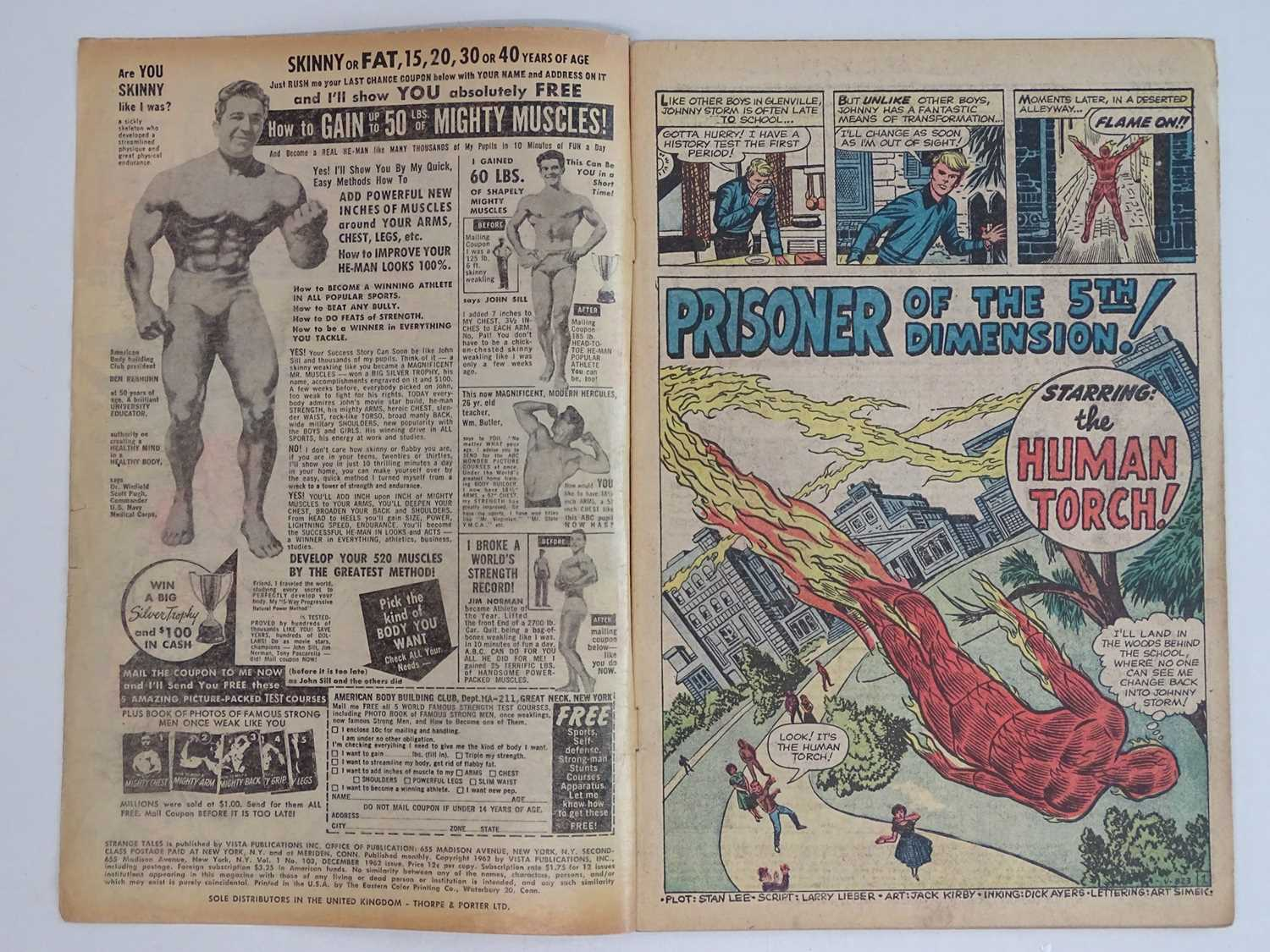 STRANGE TALES: HUMAN TORCH #103 - (1962 - MARVEL - UK Price Variant) First appearance Zemu + Third - Image 3 of 9