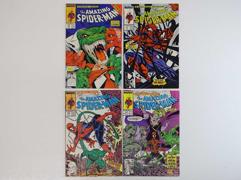 AMAZING SPIDER-MAN #313, 317, 318, 319 - (4 in Lot) - (1989 - MARVEL) - Includes Lizard, Venom,