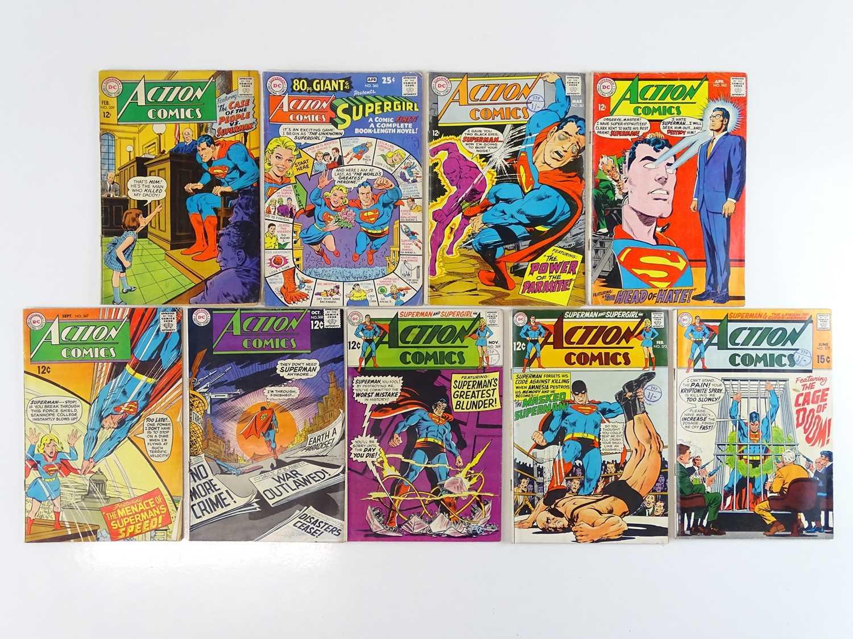 ACTION COMICS: SUPERMAN #359, 360, 361, 362, 367, 368, 369, 372, 377 - (9 in Lot) - (1968/69 -