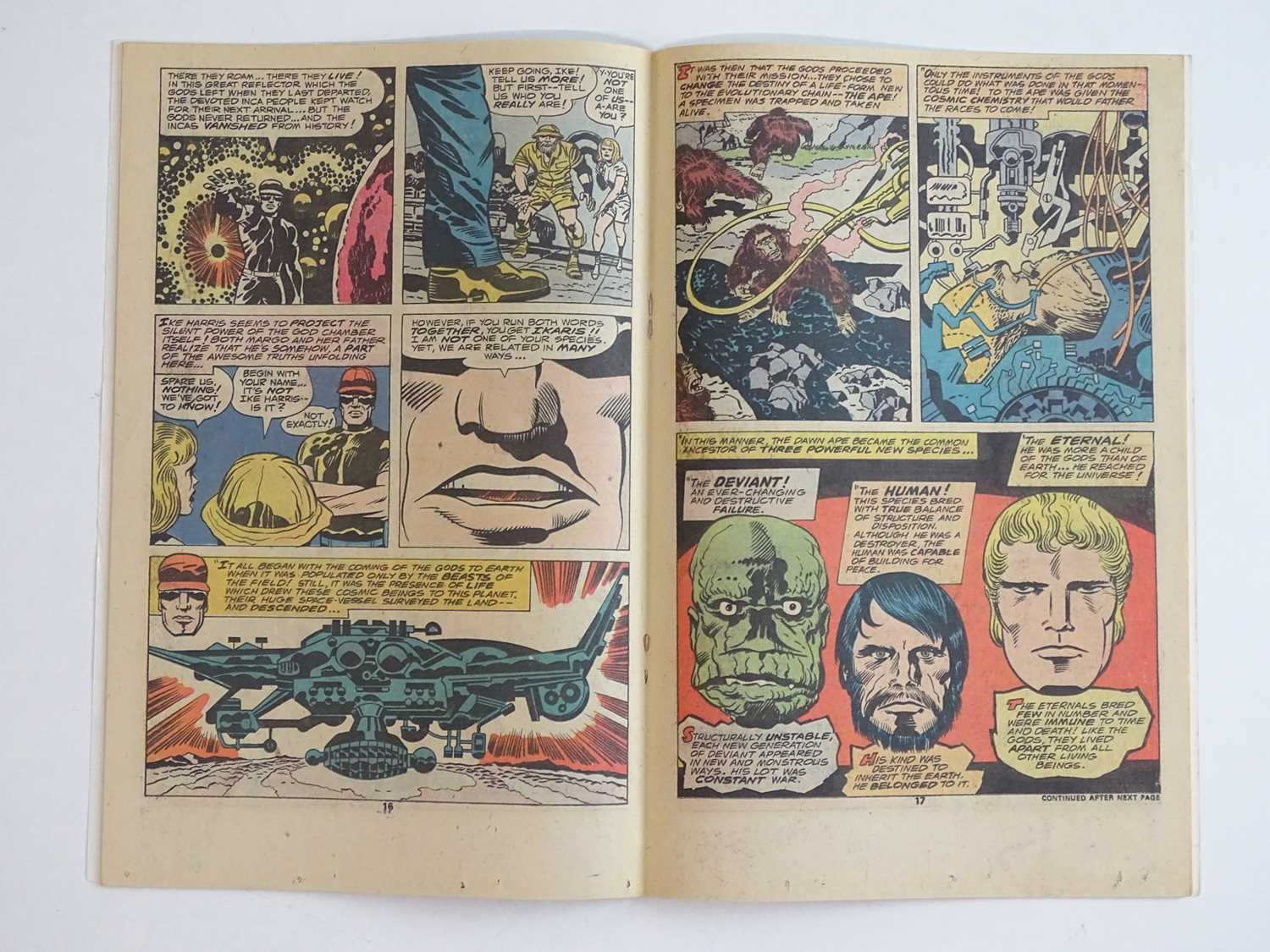 ETERNALS #1 - (1976 - MARVEL) - HOT Key book + Origin and First appearances of the Eternals (Ikaris, - Image 5 of 9