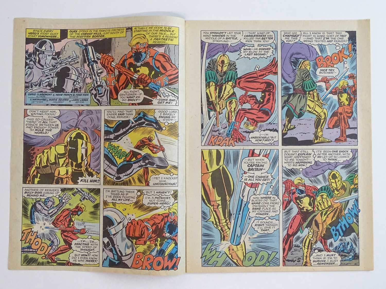 CAPTAIN BRITAIN #1 - (1976 - BRITISH MARVEL) - Origin and First appearance of Captain Britain - Image 4 of 12