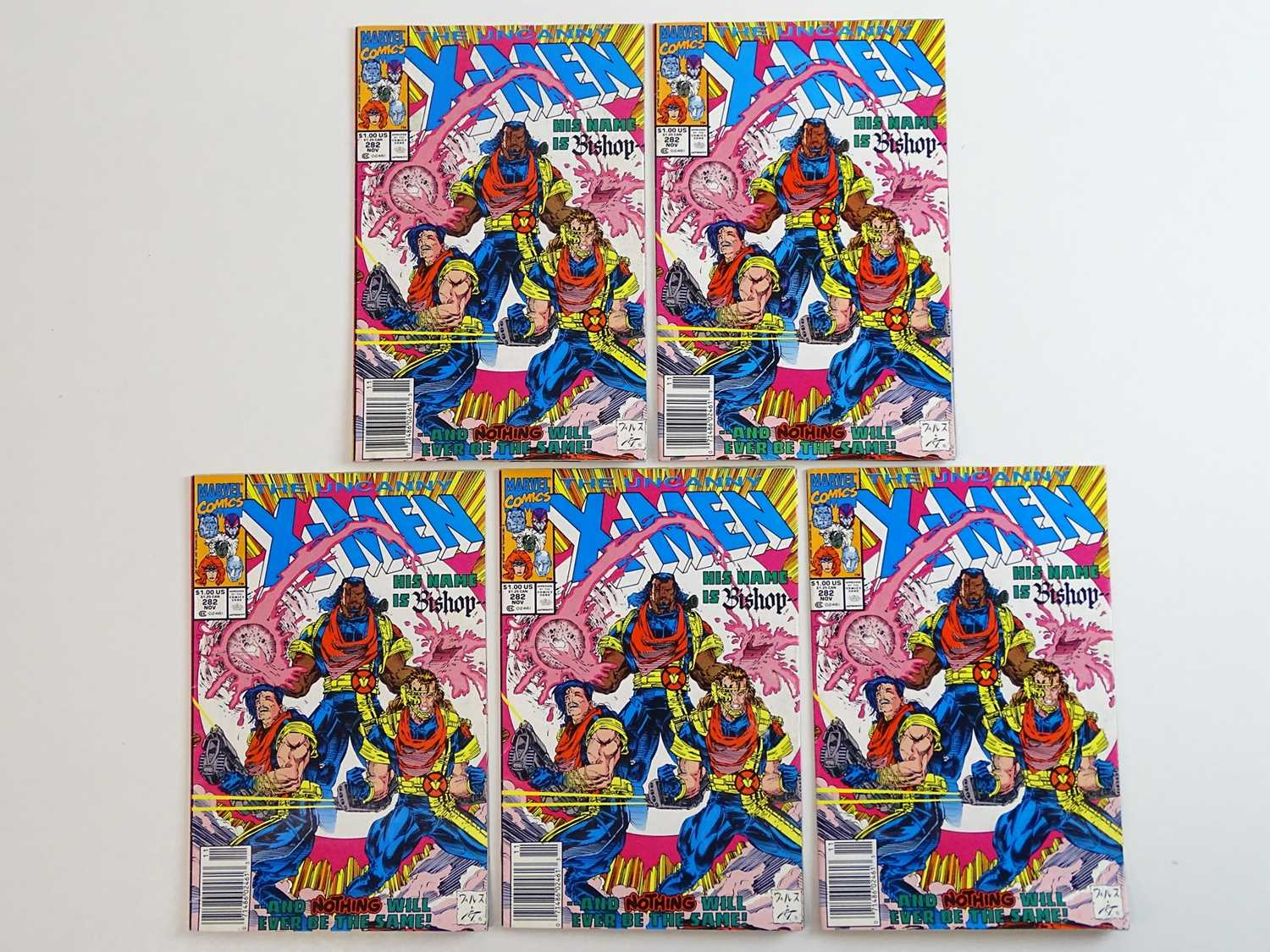 UNCANNY X-MEN #282 - (5 in Lot) - (1991 - MARVEL) - First appearance of Bishop + First appearance