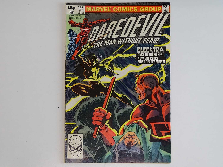 DAREDEVIL #168 - (1980 - MARVEL - UK Price Variant) - First appearance and Origin of Elektra (mis-
