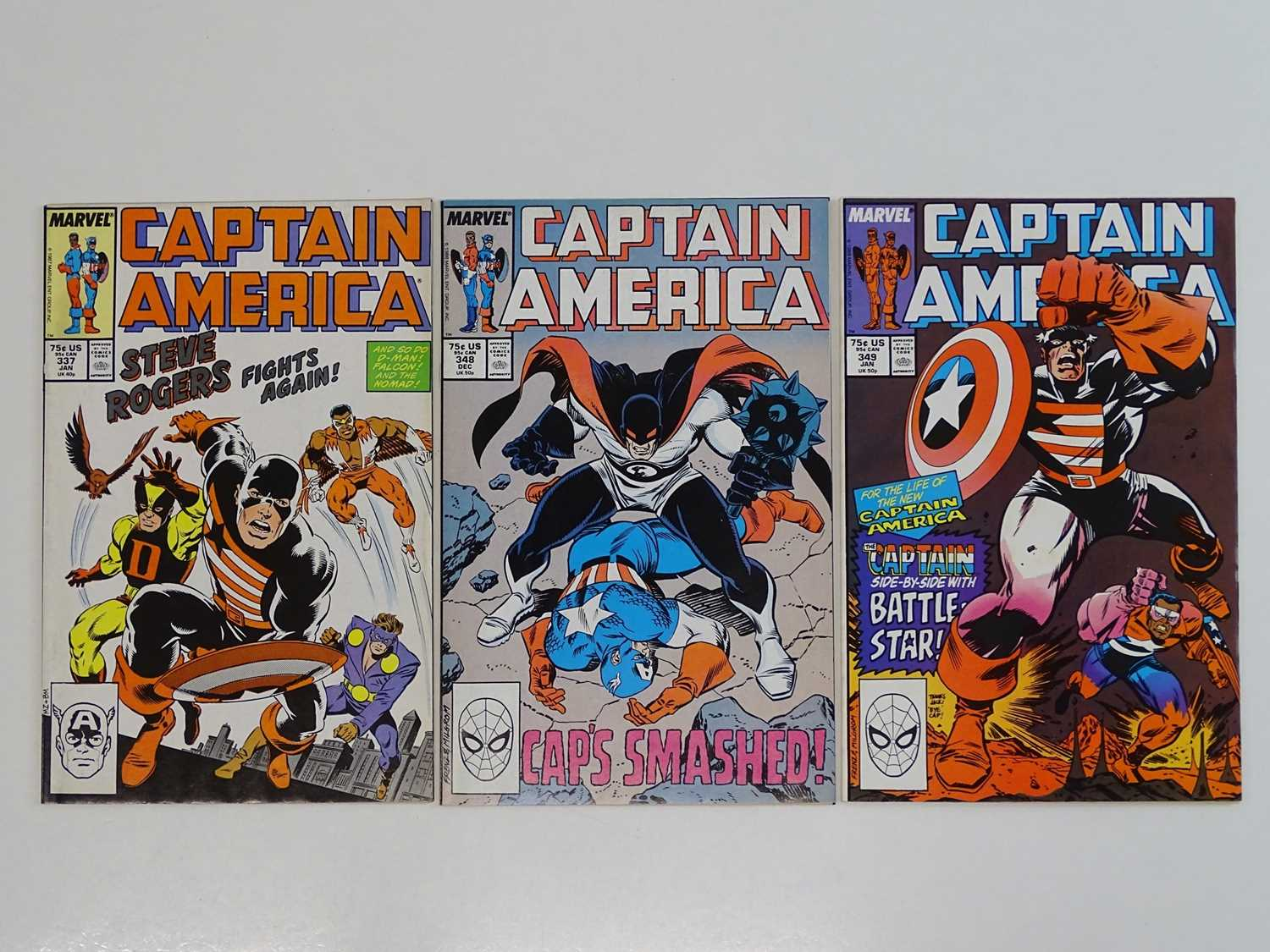 CAPTAIN AMERICA #337, 348, 349 - (3 in Lot) - (1987/88 - MARVEL) - First appearance of US Agent