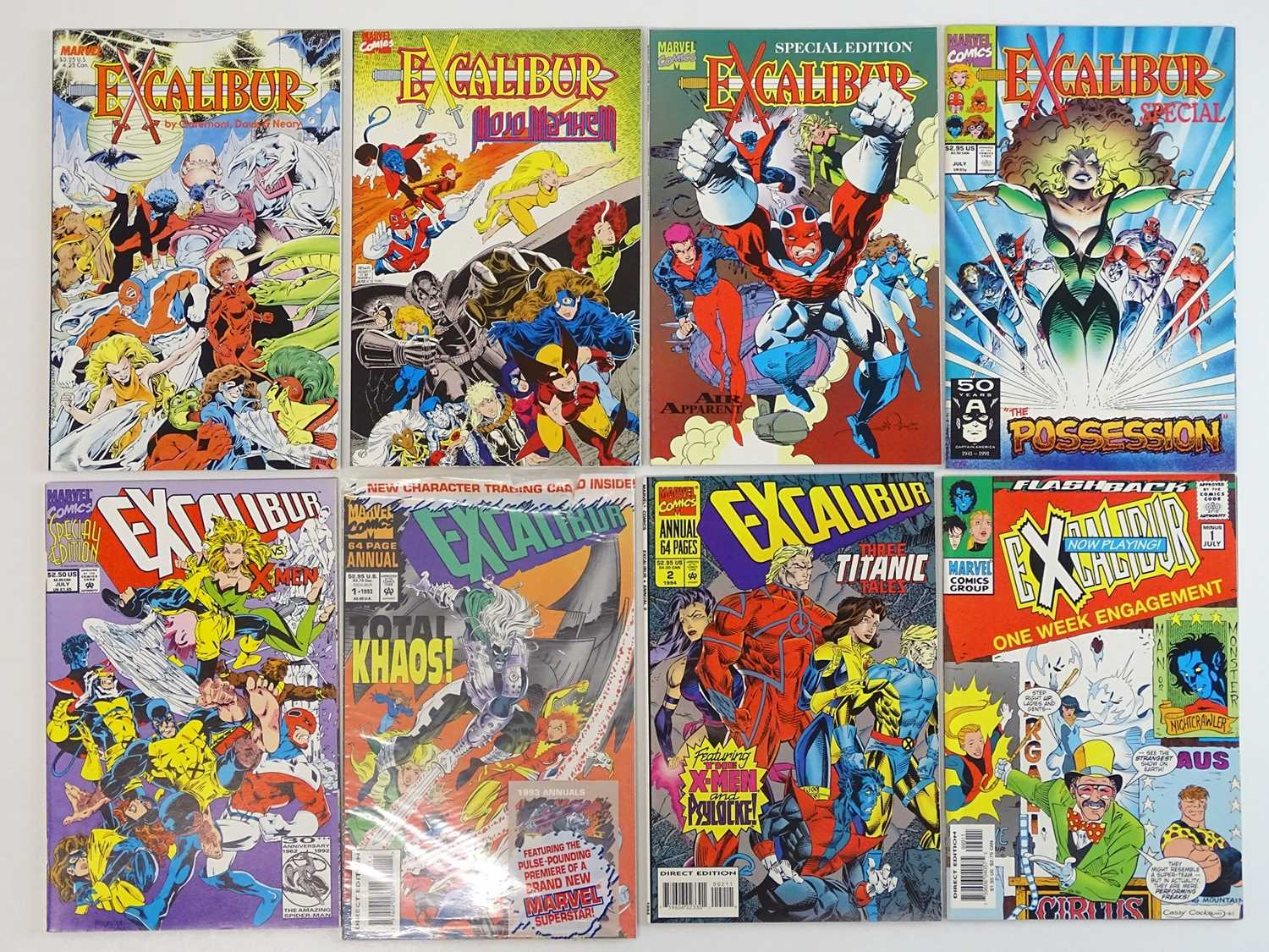 EXCALIBUR LOT - (8 in Lot) - (1987/97 - MARVEL) - Includes EXCALIBUR: THE SWORD IS DRAWN + MOJO