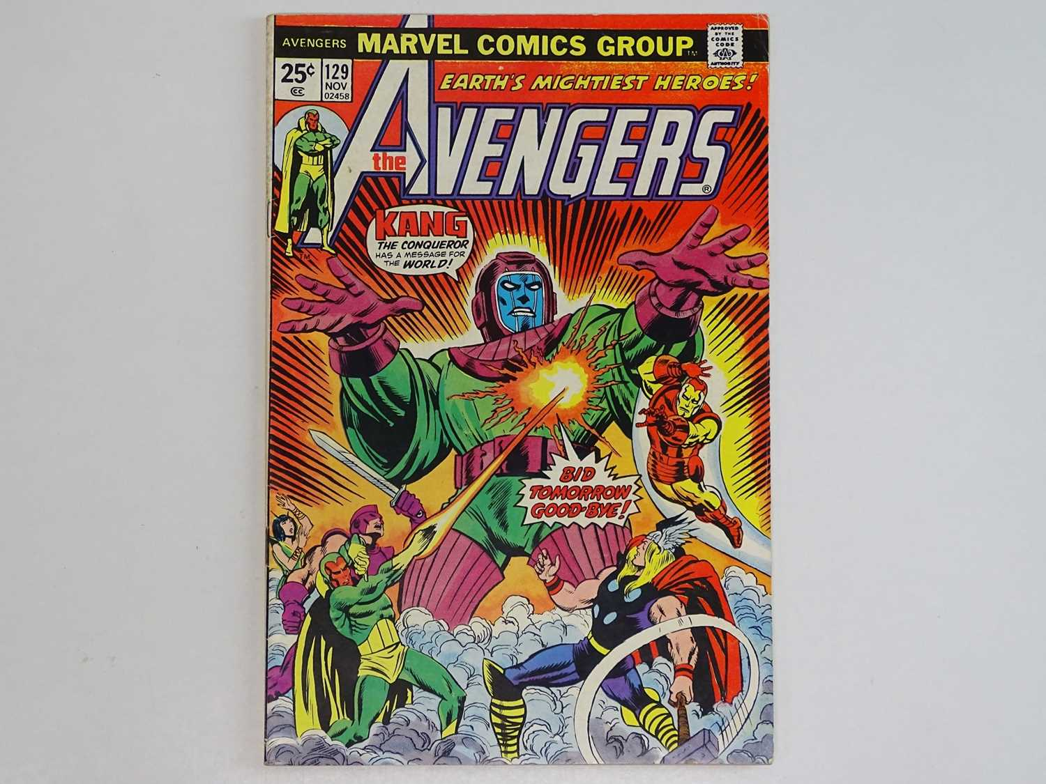 AVENGERS #129 - (1974 - MARVEL) - Classic Kang Cover + Kang the Conqueror, Ram-Tut appearances - Ron