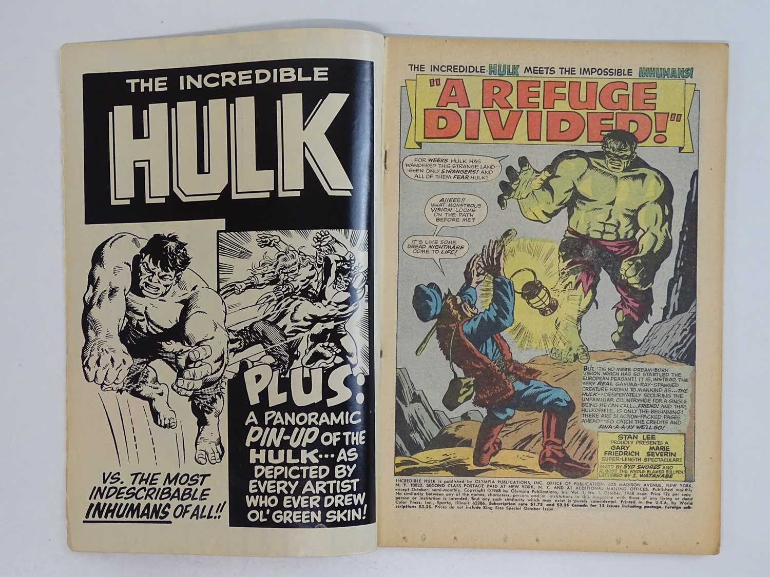 INCREDIBLE HULK: KING-SIZE SPECIAL #1 - (1968 - MARVEL) - Classic Steranko cover + Hulk battles - Image 3 of 9