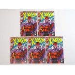 X-MEN #1 - (5 in Lot) - (1991 - MARVEL) - Magneto cover - Jim Lee cover & interior art - Flat/