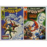 AMAZING SPIDER-MAN #74 & 80 - (2 in Lot) - (1969/70 - MARVEL - UK Price Variant) - Includes Dr. Curt