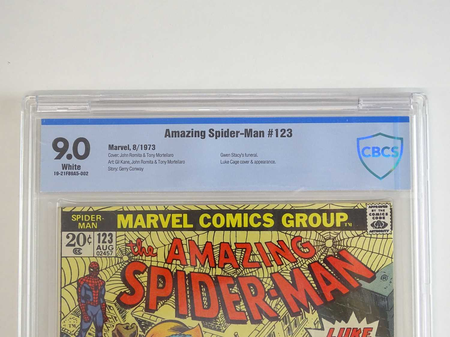 AMAZING SPIDER-MAN #123 - (1973 - MARVEL) - SEALED & GRADED 9.0 by CBCS - WHITE Pages - Luke Cage - Image 2 of 4