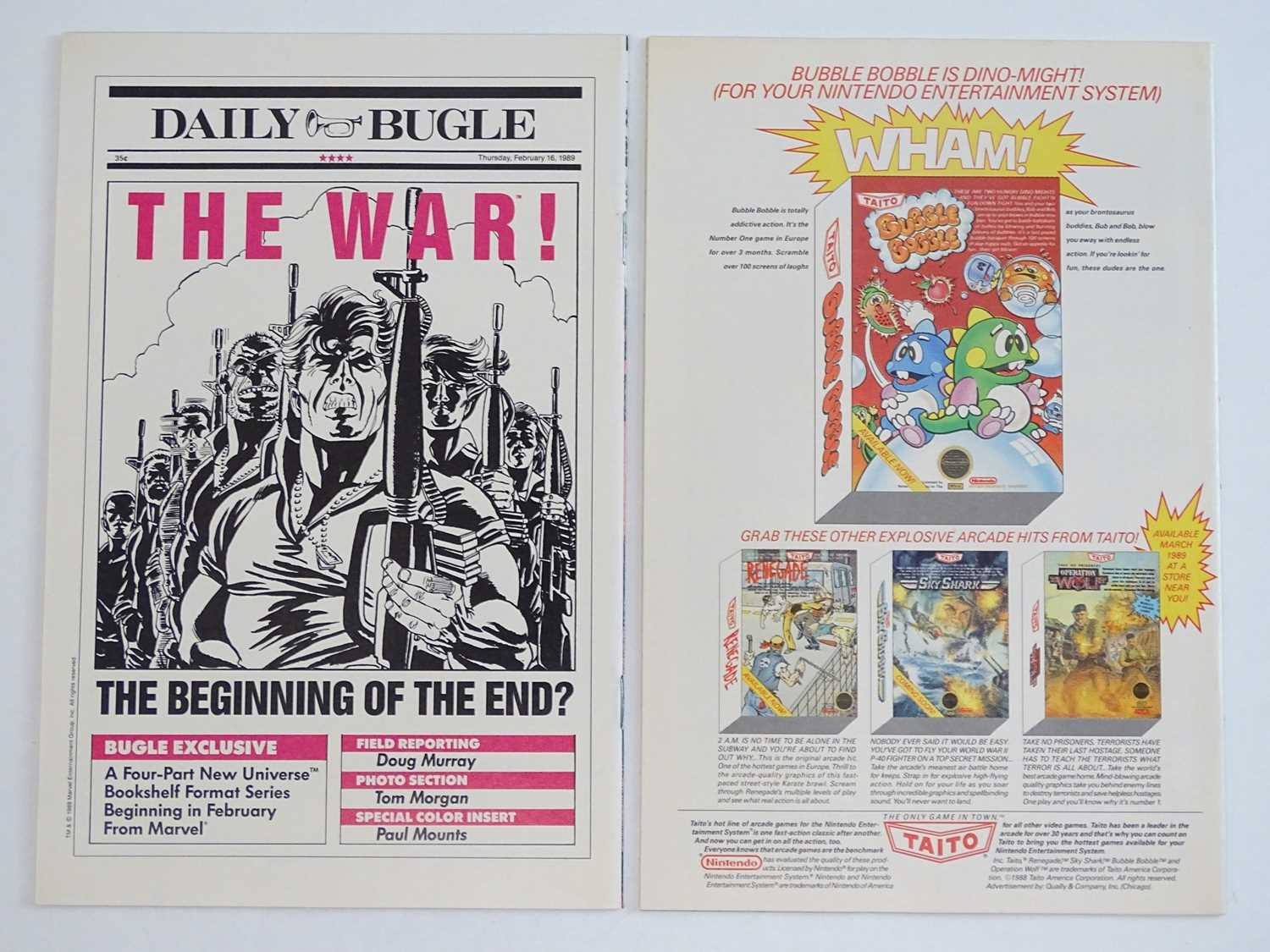 PUNISHER: WAR JOURNAL #6 & 7 - (2 in Lot) - (1989 - MARVEL) - Wolverine storyline + Wolverine covers - Image 2 of 2