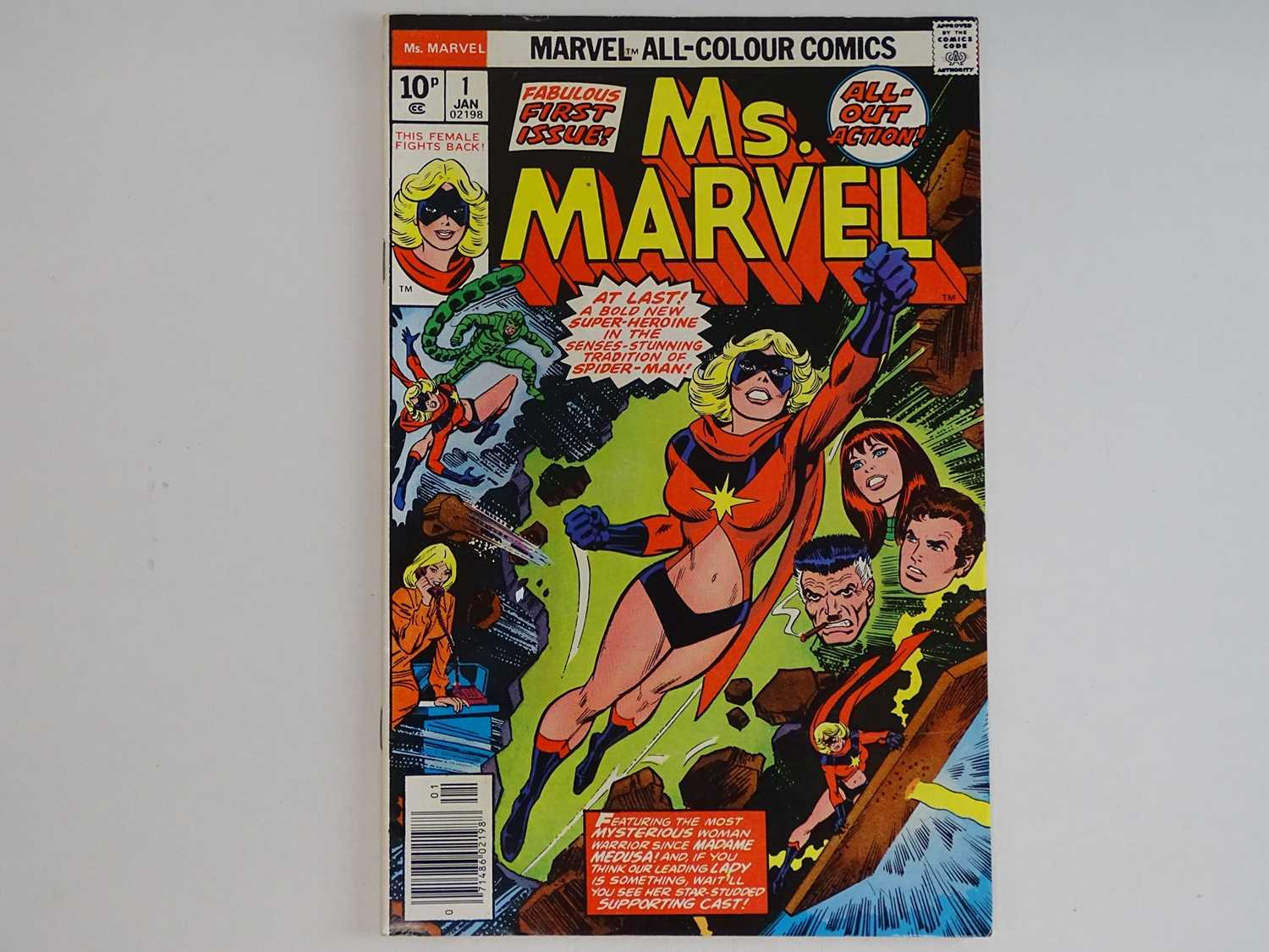 MS. MARVEL #1 - (1977 - MARVEL - UK Price Variant) - Ms. Marvel's first own title solo series +